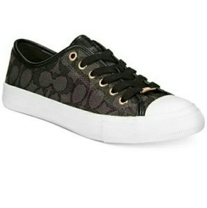 "💕EUC Coach ""Empire"" black canvas sneakers"